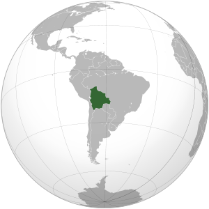 Bolivia on map