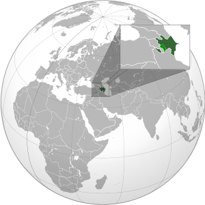 Azerbaijan on map