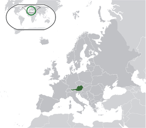Austria on map