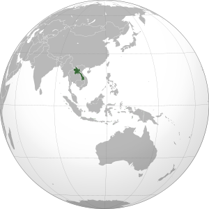 Laos on map