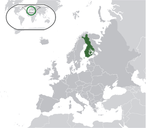 Finland on map