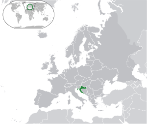 Croatia on map