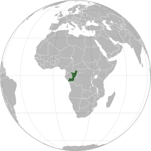 Congo on map