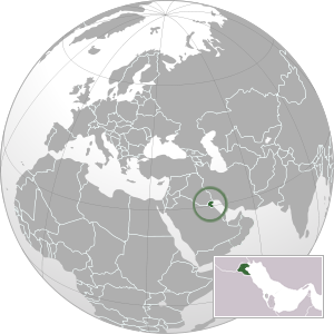 Kuwait on map