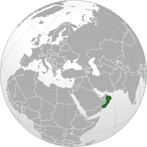 Oman on map