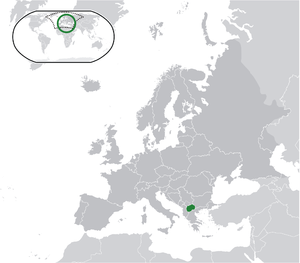 Macedonia on map