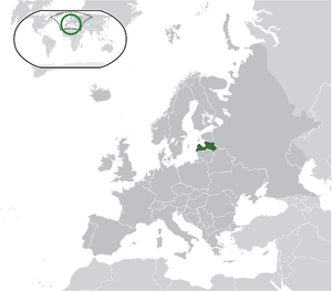 Latvia on map