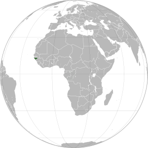 Guinea-Bissau on map