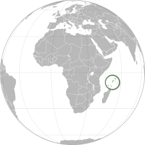 Seychelles on map
