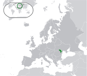 Moldova on map