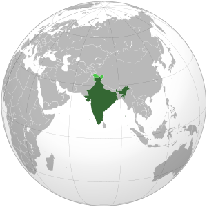 India on map