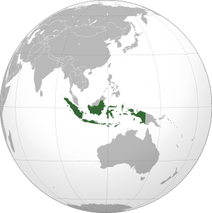 Indonesia on map