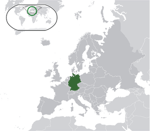 Germany on map