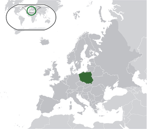Poland on map