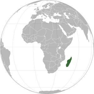 Madagascar on map