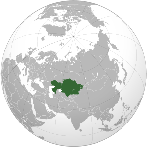 Kazakhstan on map