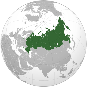 Russia on map