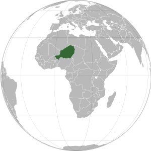 Niger on map